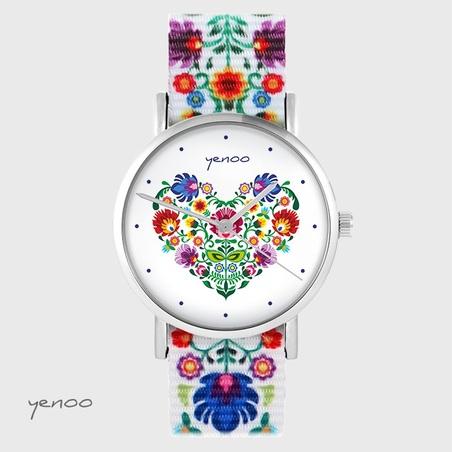 Yenoo watch - Folk heart - folk, nylon