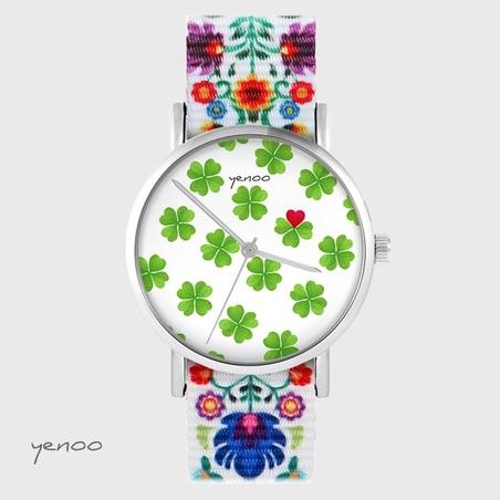 Yenoo watch - Lucky heart - folk, nylon