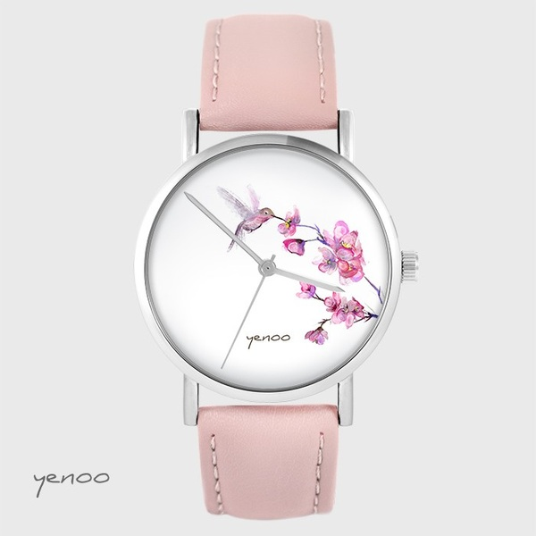 Yenoo watch - Koliber - powder pink, leather