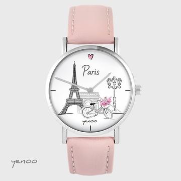 Yenoo watch - Paris - powder pink, leather