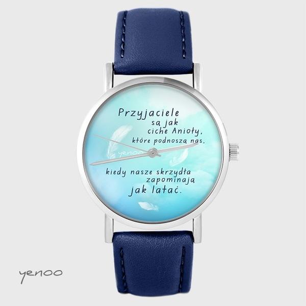 Yenoo watch - Friends - navy blue leather