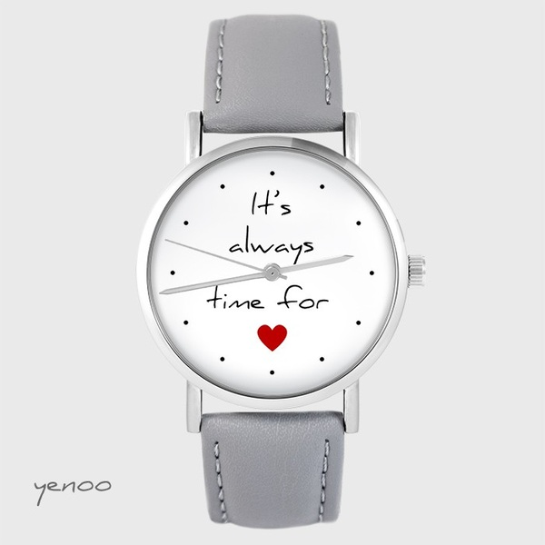 Watch yenoo - It`s always time for love - gray, leather