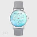 Yenoo watch - Friends - gray, leather