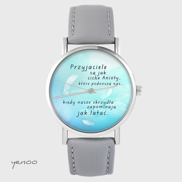 Yenoo watch - Friends - gray, leather