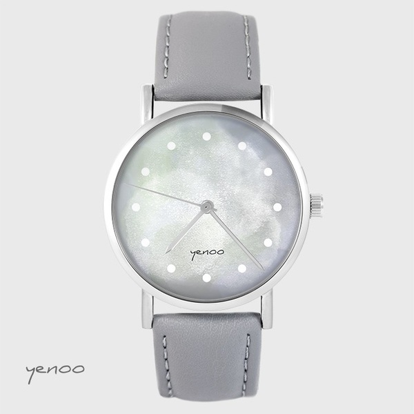 Yenoo watch - Gray - gray, leather