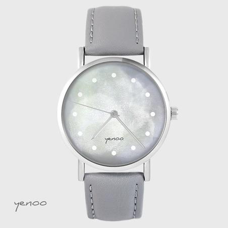 Yenoo watch - Gray - gray, leather
