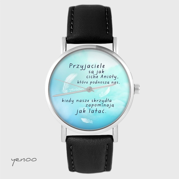 Yenoo watch - Friends - black, leather