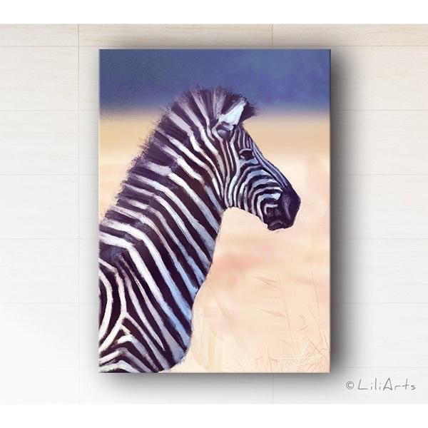 Obraz - Afryka, zebra - wydruk na płótnie