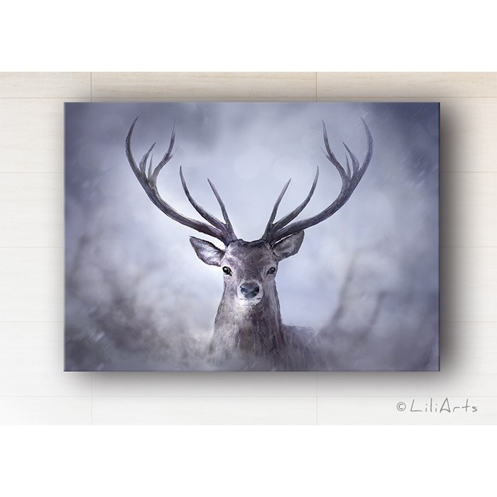 Painting - Scandinavian deer - print on canvas