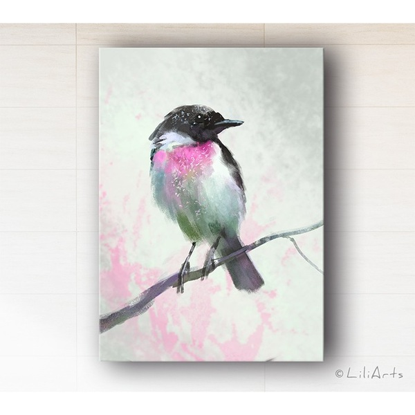 Obraz - Pastelowy ptaszek, Pastel dream - wydruk na płótnie
