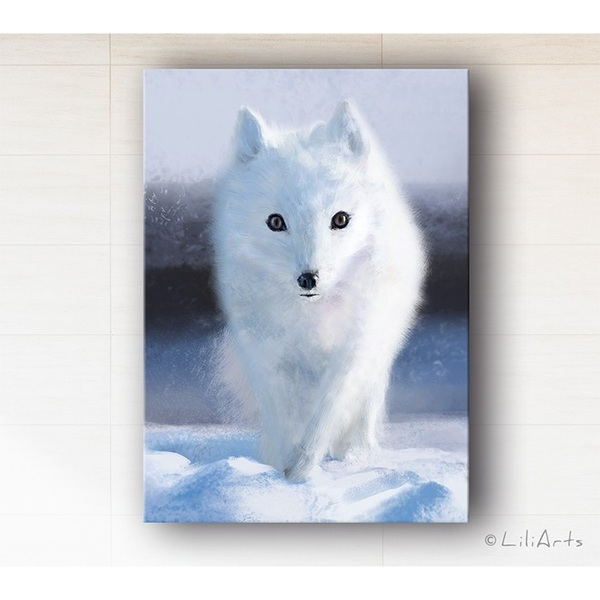 Picture - Snow fox - canvas print