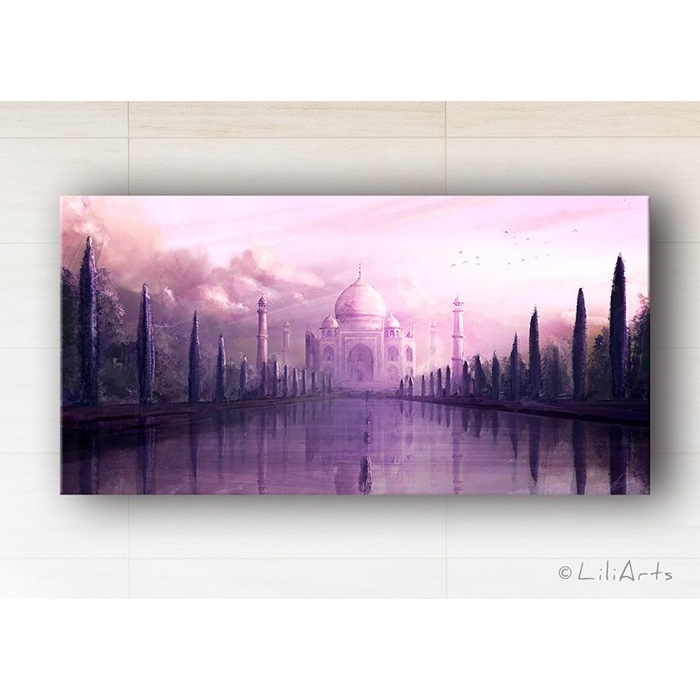Picture - Taj Mahal - print on canvas