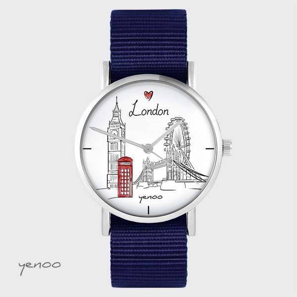 Zegarek yenoo - Londyn - granatowy, nato