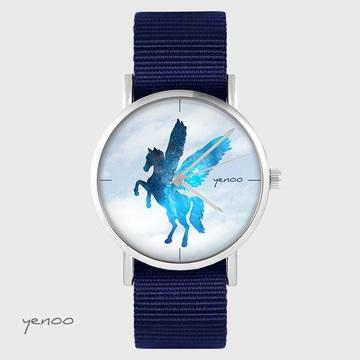 Yenoo watch - Pegasus - navy blue, nato