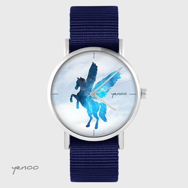Zegarek yenoo - Pegaz - granatowy, nato
