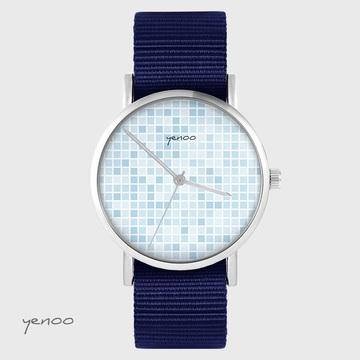 Yenoo watch - Pixel blue - navy blue, nato