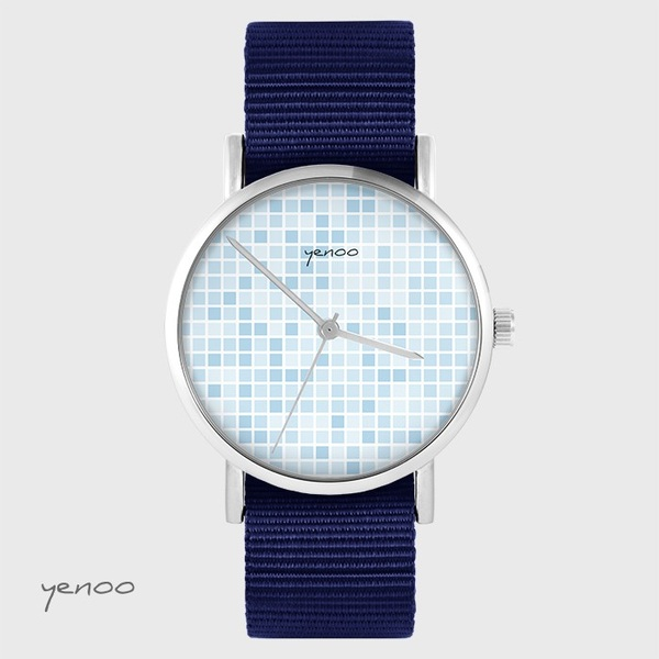 Yenoo watch - Pixel blue - navy blue, nato