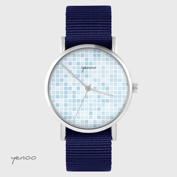 Zegarek yenoo - Pixel niebieski - granatowy, nato
