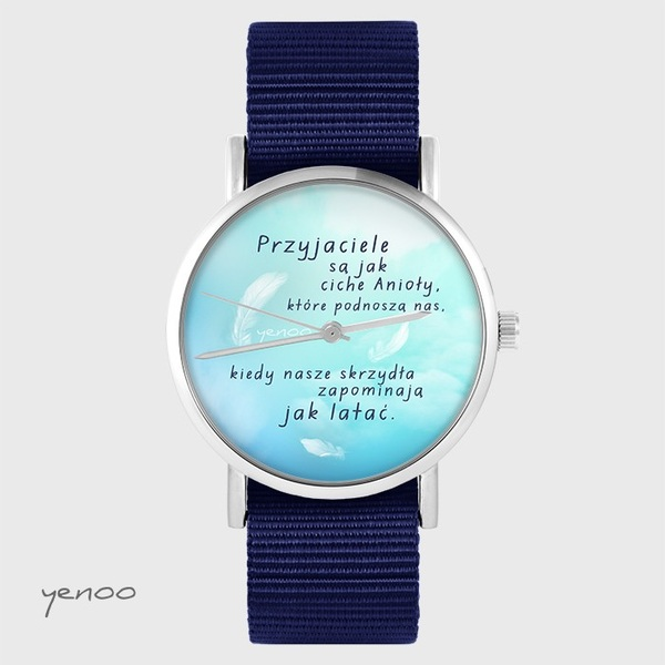 Yenoo watch - Friends - navy blue, nato