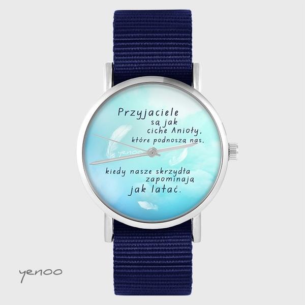 Zegarek yenoo - Przyjaciele - granatowy, nato