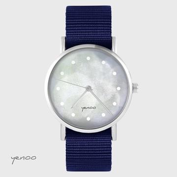 Yenoo watch - Gray - navy blue, nato