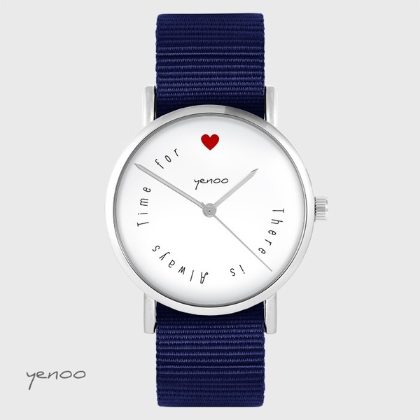 Yenoo watch - There is ... - navy blue, nato