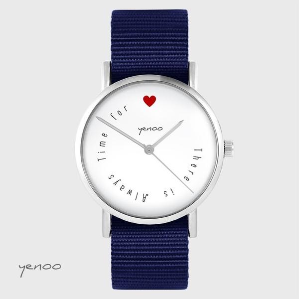 Zegarek yenoo - There is... - granatowy, nato