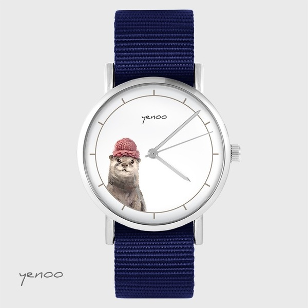 Yenoo watch - Otter - navy blue, nato