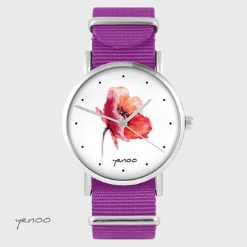 Yenoo watch - Poppy - magenta, nato