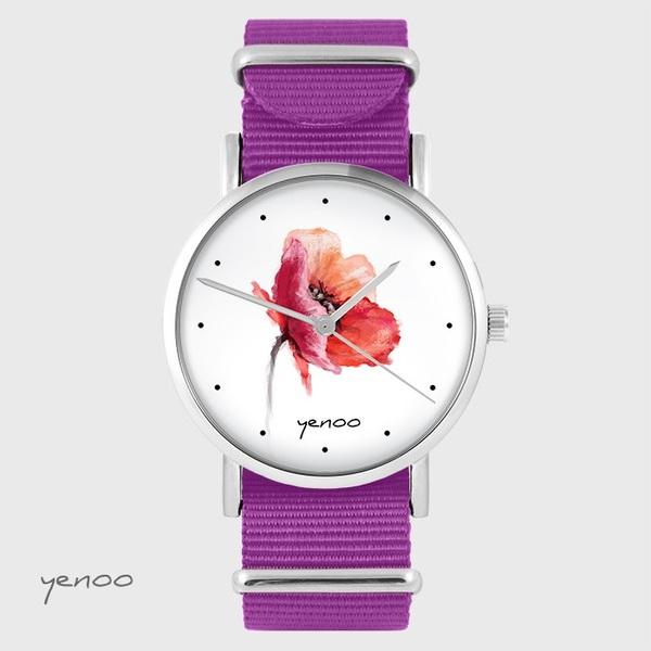 Zegarek yenoo - Mak - amarant, nato