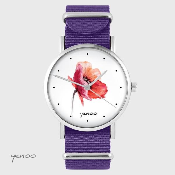 Zegarek yenoo - Mak - fiolet, nato