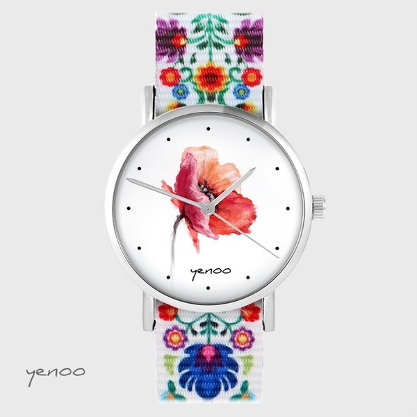Yenoo watch - Poppy - folk, nato