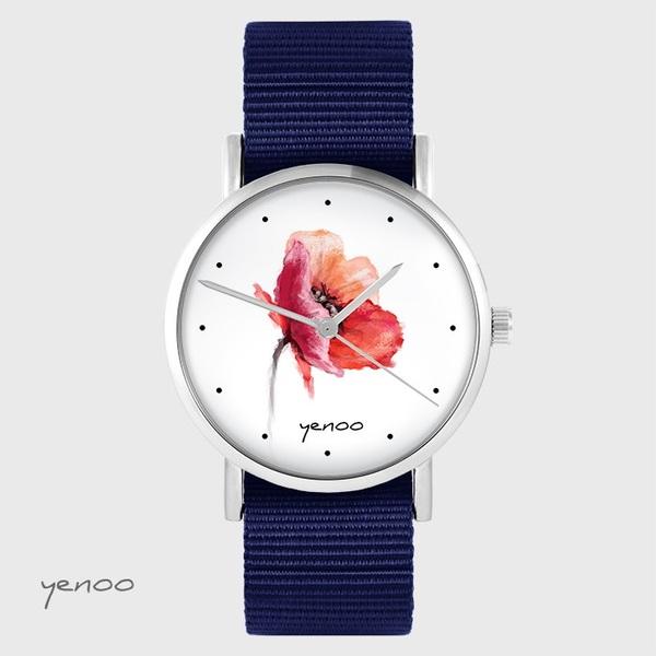 Zegarek yenoo - Mak - granatowy, nato