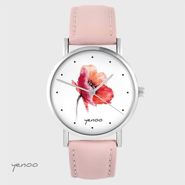 Yenoo watch - Poppy - powder pink leather
