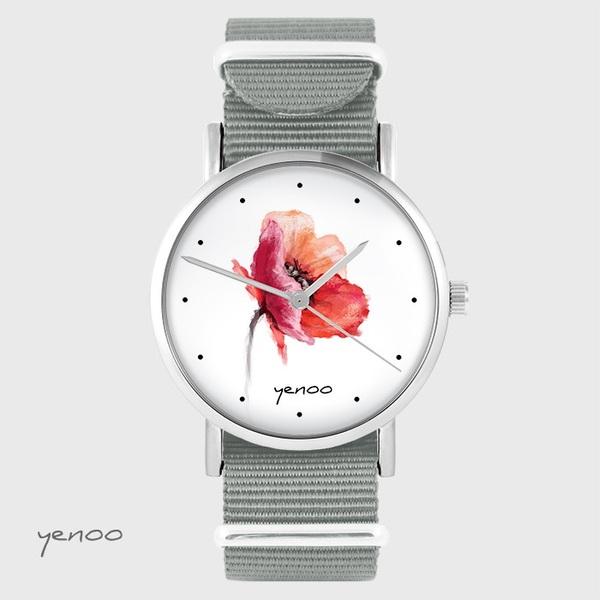 Zegarek yenoo - Mak - szary, nato