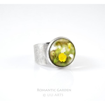 Liliarts ring - Yellow flower